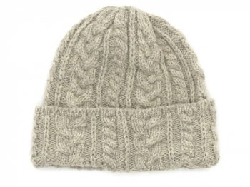 Kerry Woollen Mills Knit Cap LIGHT GRAY