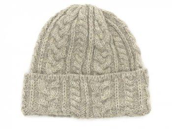 Kerry Woollen Mills Knit Cap LIGHT GRAY