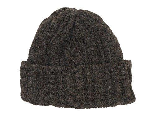 Kerry Woollen Mills Knit Cap DARK BROWN