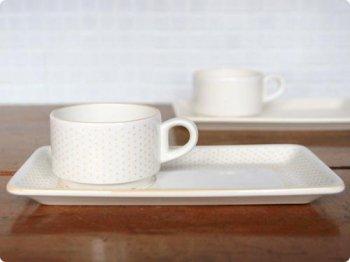 水玉のカップ&プレート