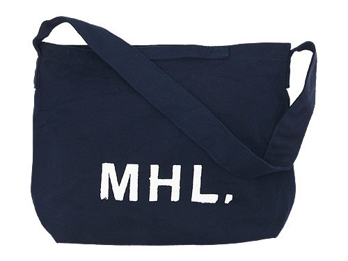 MHL. HEAVY CANVAS SHOULDER BAG 120NAVY