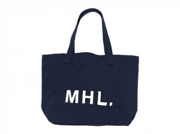 MHL. HEAVY CANVAS TOTE BAG 120NAVY