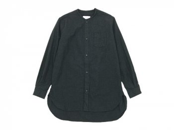 blanc no collar long shirts CHARCOAL