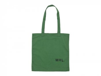 MHL. LIGHT COTTON DRILL TOTE BAG 140GREEN
