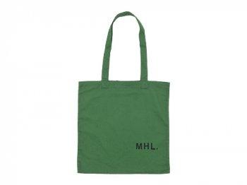 MHL. LIGHT COTTON DRILL TOTE BAG 140GREEN