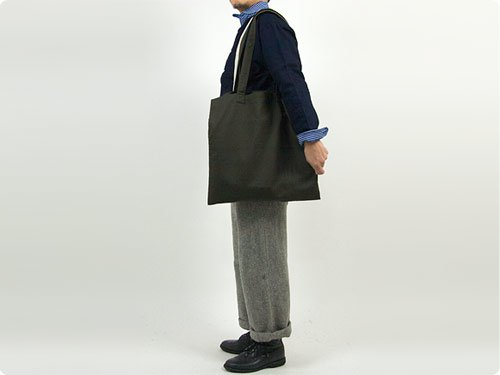MHL. LIGHT COTTON DRILL TOTE BAG 182MOSS
