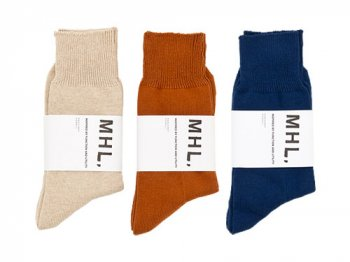 MHL. ROUGH COTTON SOCKS 〔メンズ〕
