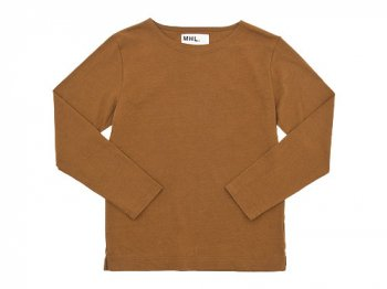 MHL. DRY COTTON JERSEY L/S T-SHIRTS 152BROWN〔メンズ〕