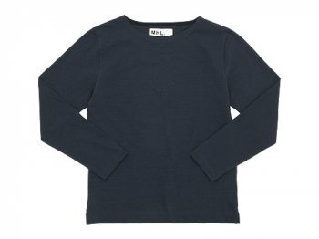 MHL. DRY COTTON JERSEY L/S T-SHIRTS 120NAVY〔メンズ〕