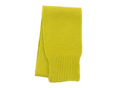 MHL. BRITISH MERINO CHUNKY SCARF 060LIME YELLOW