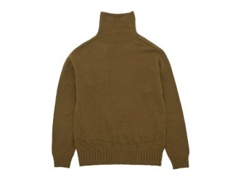 MHL. CHUNKY WOOL TURTLE NECK KNIT 051BROWN〔レディース〕