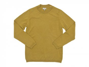 MARGARET HOWELL MERINO WIDE CREW NECK KNIT  063MUSTARD 〔メンズ〕