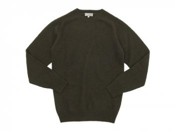 MARGARET HOWELL CASHMERE SADDLE CREW KNIT 143MOSS 〔メンズ〕