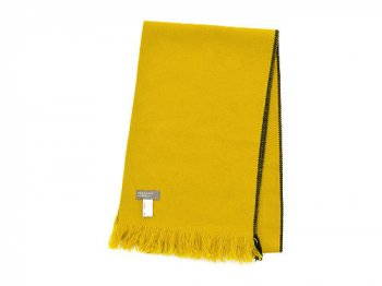 MARGARET HOWELL SELVEDGE WOOL SCARF 063MUSTARD