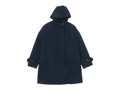 MARGARET HOWELL MOLESKIN HOODED COAT 121DARK NAVY〔レディース〕