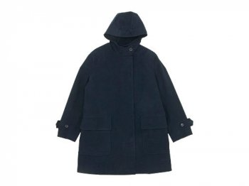 MARGARET HOWELL MOLESKIN HOODED COAT