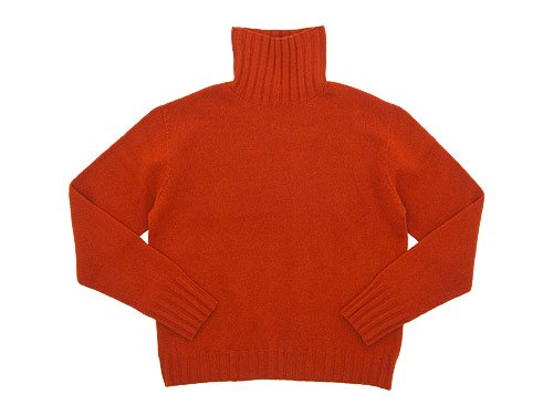 MARGARET HOWELL WOOL CASHMERE OVERSIZED KNIT 150ORANGE〔レディース〕