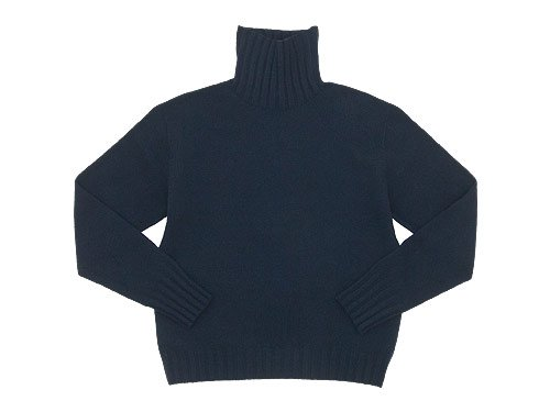 MARGARET HOWELL WOOL CASHMERE OVERSIZED KNIT 120NAVY〔レディース〕
