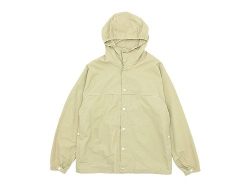 YAECA 60/40 CLOTH HOODED SHIRT LONG BEIGE