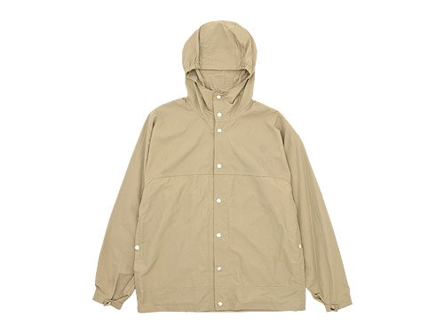 YAECA 60/40 CLOTH HOODED SHIRT LONG KHAKI