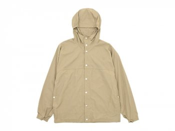 YAECA 60/40クロス フードシャツ ロング KHAKI