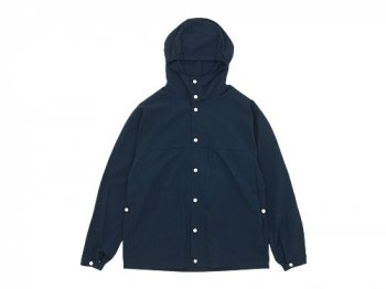 YAECA 60/40 CLOTH HOODED SHIRT LONG NAVY