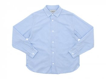 YAECA コンフォートシャツ リラックスBLUE 〔レディース〕