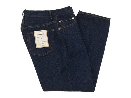 YAECA DENIM PANTS WIDE STRAIGHT 13W INDIGO 〔レディース〕