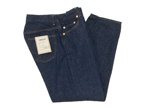 YAECA DENIM PANTS WIDE STRAIGHT 11W INDIGO 〔レディース〕