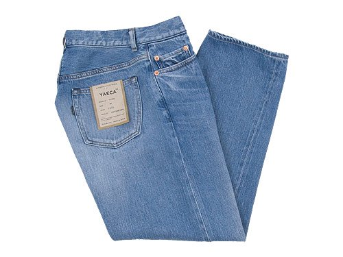 YAECA DENIM PANTS WIDE STRAIGHT 12U BLUE 〔レディース〕