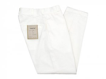 YAECA CHINO CLOTH PANTS WIDE TAPERED WHITE 〔レディース〕