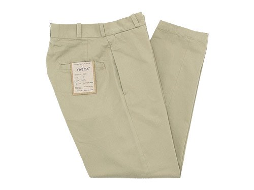 YAECA CHINO CLOTH PANTS WIDE TAPERED BEIGE 〔レディース〕