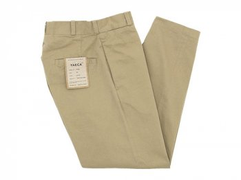 YAECA CHINO CLOTH PANTS WIDE TAPERED KHAKI 〔レディース〕