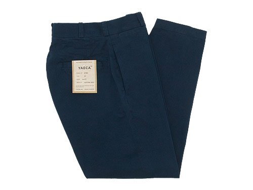 YAECA CHINO CLOTH PANTS WIDE TAPERED NAVY 〔レディース〕