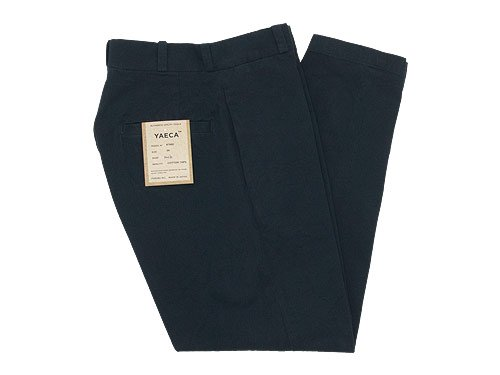 YAECA CHINO CLOTH PANTS WIDE TAPERED DARK NAVY 〔レディース〕
