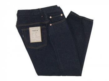 YAECA DENIM PANTS CROPPED TAPERED 14W INDIGO 〔レディース〕