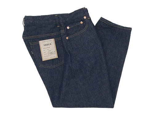 YAECA DENIM PANTS CROPPED TAPERED 11W INDIGO 〔レディース〕