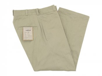 YAECA CHINO CLOTH PANTS STRAIGHT BEIGE 〔レディース〕