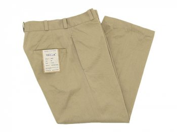 YAECA CHINO CLOTH PANTS STRAIGHT KHAKI 〔レディース〕