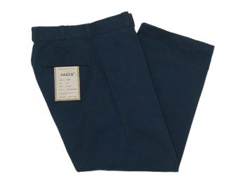 YAECA CHINO CLOTH PANTS STRAIGHT NAVY 〔レディース〕