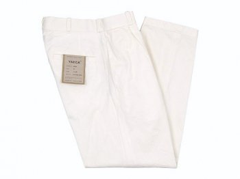 YAECA CHINO CLOTH PANTS TUCK TAPERED WHITE 〔レディース〕