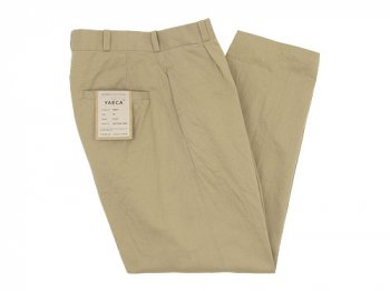 YAECA CHINO CLOTH PANTS TUCK TAPERED KHAKI 〔レディース〕