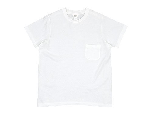 YAECA STOCK POCKET T-SHIRTS WHITE 〔レディース〕