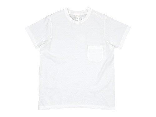 YAECA STOCK ポケットTシャツ WHITE 〔レディース〕 【88004】