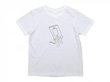 YAECA STOCK プリントTシャツ CHIPS 〔レディース〕