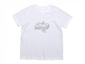 YAECA STOCK プリントTシャツ SANDWICH 〔レディース〕