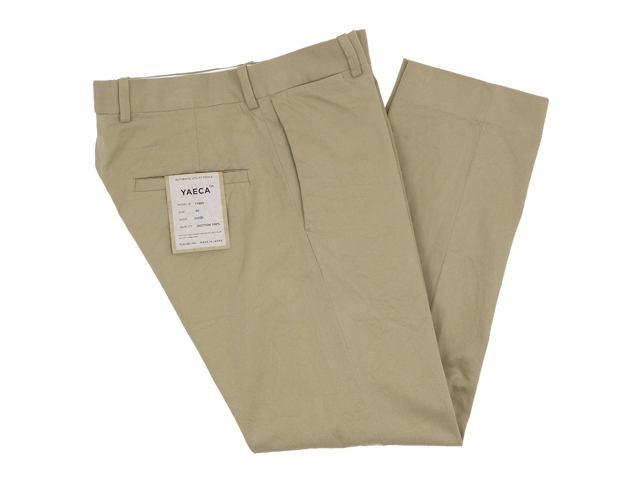 YAECA CHINO CLOTH PANTS STANDARD KHAKI 〔メンズ〕