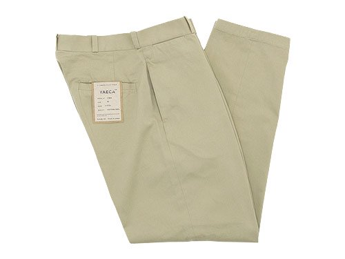 YAECA CHINO CLOTH PANTS WIDE TAPERED BEIGE 〔メンズ〕