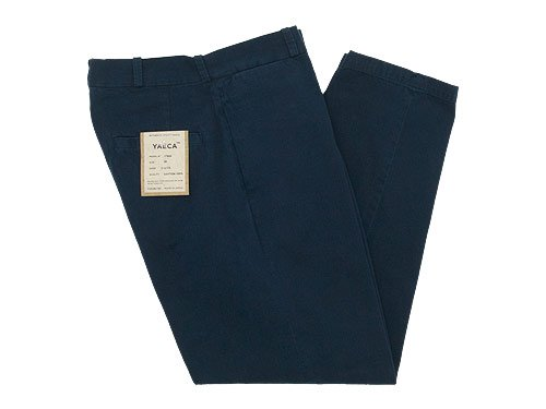 YAECA CHINO CLOTH PANTS WIDE TAPERED NAVY 〔メンズ〕