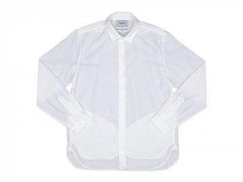 YAECA コンフォートシャツ ロング WHITE 〔メンズ〕